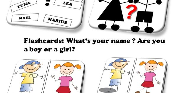 Flashcards Anglais : What's Your Name? Are You A Boy Or A