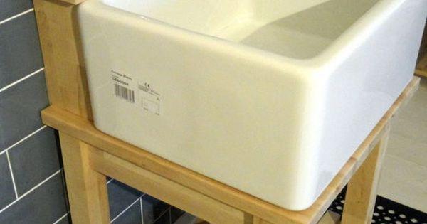 Garage Sink Unit : Details about Belfast / Baby Belfast Sink Stand Unit, Oak Tap Ledge ...