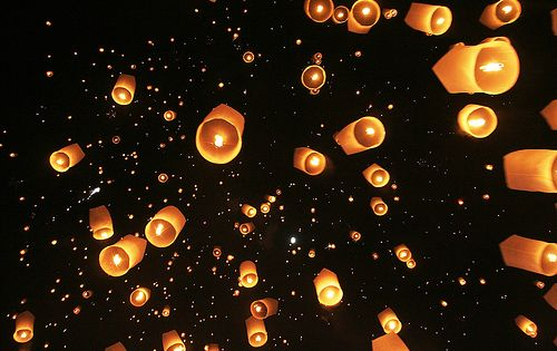 Sky Lantern Festival...i have a thing for floating lanterns