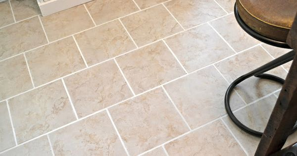 Our vintage home love kitchen floors get grout white and for How to make grout white again