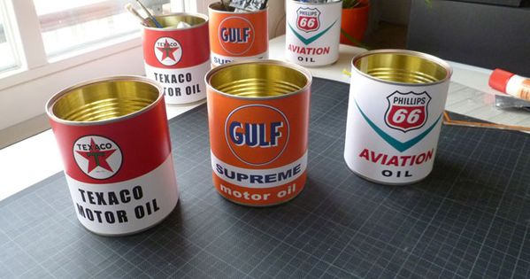 pinewood derby replica vintage motor oil can phillips66 texaco gulf 13 for goody bag awards. Black Bedroom Furniture Sets. Home Design Ideas