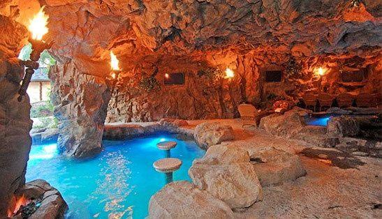Drake S New La Mega Mansion Indoor Pool House Luxury Pools Pool Waterfall