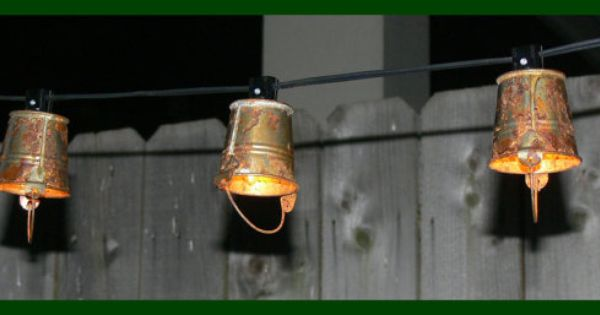 Outdoor String Lights Etsy : Itty Bitty Bucket Lights- Very Flea Market Chic - Indoor - Outdoor String Lights - Available in ...