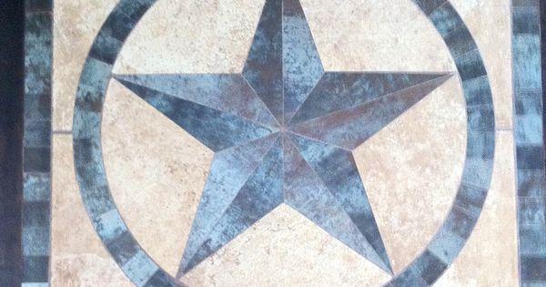 36 Quot Framed Texas Star Medallion Of Porcelain And
