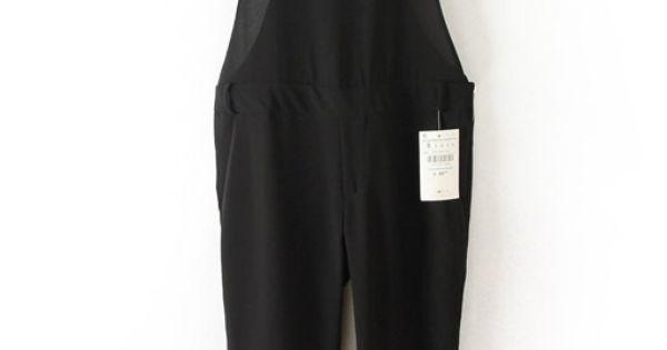black spaghetti strap side zipper chiffon jumpsuit. Black Bedroom Furniture Sets. Home Design Ideas