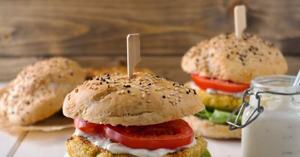 Chickpea burger, Tahini sauce and Tahini on Pinterest