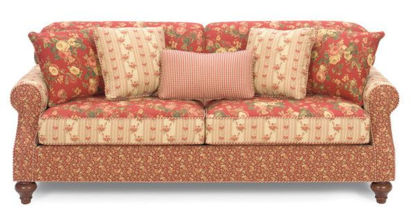 Country Sofas And Loveseats Craftmaster Carolines Cottage Country Red Loveseat Ideas For The