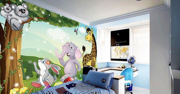 Tapisserie num rique sur mesure papier peint personnalis d coration murale chambre b b chambre - Decoratie murale bebe ...