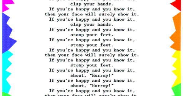 if you are happy and you know it lyrics pdf
