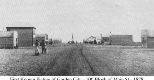 First Picture Ever Taken Of My Home Town Of Garden City Kansas Garden City City City Pictures