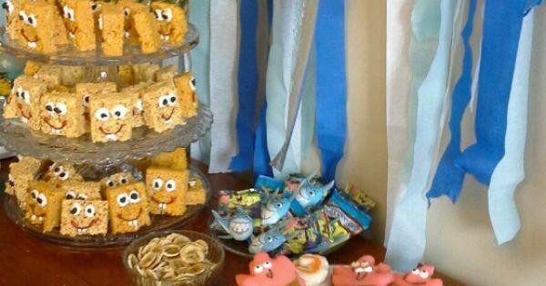 Spongebob Party Treats Done Pinterest Krispie Treats