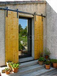 Volets Coulissants Style Industriel Volet Coulissant Volet Exterieur Decoration Jardin Maison