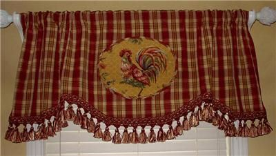 French Country Kitchen Curtains On Scalloped Valance