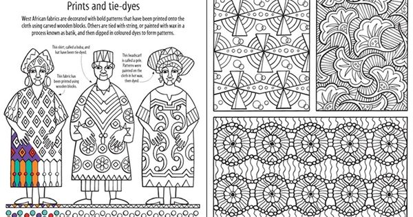 African Patterns To Colour Usborne Childrens Books