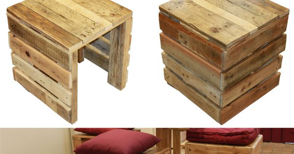 tabouret en bois de palette palettes pinterest tabouret en bois tabouret et palette. Black Bedroom Furniture Sets. Home Design Ideas