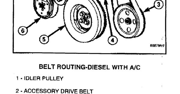 6 7 Belt Routing Diagram Dodge Diesel Diesel Truck Resource