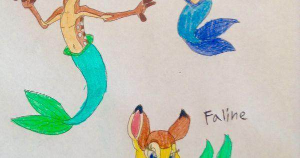 Bambi Faline And Thumber As Mer Animals Bambi Faline