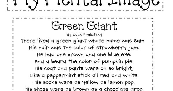 Green Giant poem and title.pdf | Education | Pinterest ...