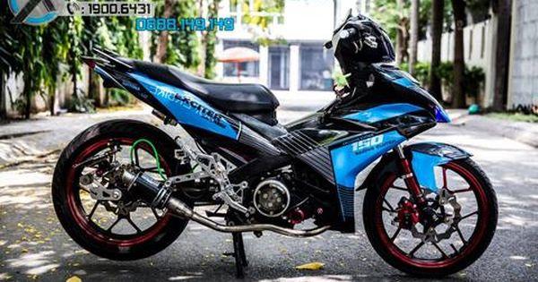 Tem Exciter 150 Mẫu Racing Clutch Xanh đen Lebah Jantan