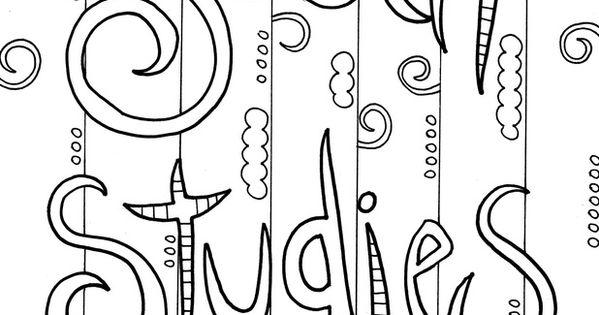 Social Stu s coloring sheet Social Stu s