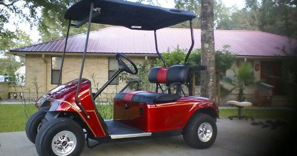 My 16 year old restored golf cart i added pinstriping for Golf cart plans