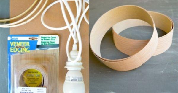 Simple Diy Veneer Pendant Lamp Lampen Verlichting Bureaulamp