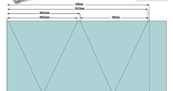 posible patr n para un tipi de 4 lados diy pinterest. Black Bedroom Furniture Sets. Home Design Ideas