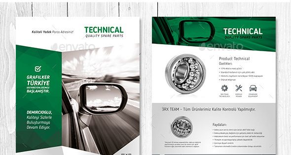 Technical Data Product Flyer Templates : Design, Flyers and Data ...