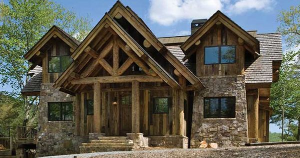 House plans for small post and beam homes and cottages for Post and beam ranch homes