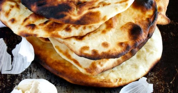Garlic Naan - This will go perfect with my yellow curry dinner!