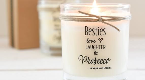 Best Friend Personalised Scented Candle Scented Candle Besties Candle Gift For Friend Birthday G Personalized Scented Candles Scented Candles Candles