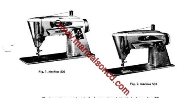 singer 500 and 503 sewing machine service manual  covers models  500  503 43 pages of great
