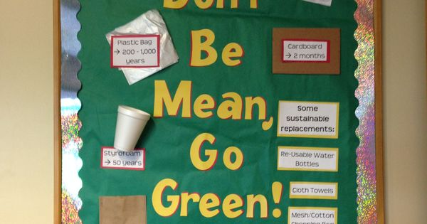 Don't Be Mean, Go Green. Sustainable living info ...