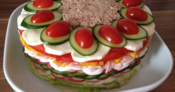 salattorte rezept salattorte vorspeisen salat und lena. Black Bedroom Furniture Sets. Home Design Ideas
