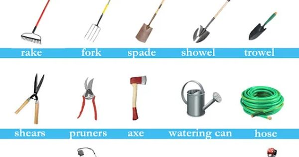 Garden tools vocabulary pictorial vocabulary pinterest for Gardening tools vocabulary
