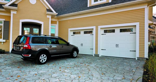 Garage Door Carriage House SP, 9' x 7', Ice White, Clear windows ...