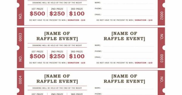raffle ticket format