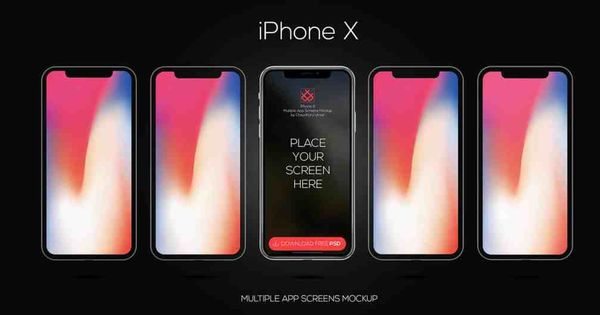 Download Iphone X Mockup Vector Iphone X Vector Mockup With 5 Sides Front Design A Complete Mockup For A Iphone X Application Iphone Mockup Psd Iphone Mockup Iphone