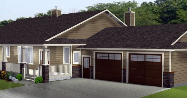Ranch style house plans with basements l shaped ranch for L shaped ranch house remodel