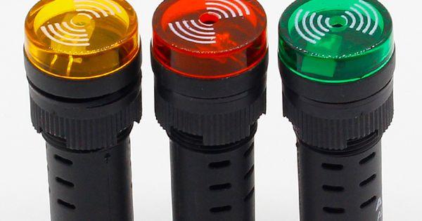Panel Mount 16mm Led Indicator Buzzer 12v 24v 220v Led Buzzer Affiliate Led Indicator Led Indicator Lights