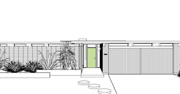 Garage Floor Plan >> Anshen+Allen | Desert Eichler | Palm Springs | Pinterest | Door entry, Garage doors and Doors