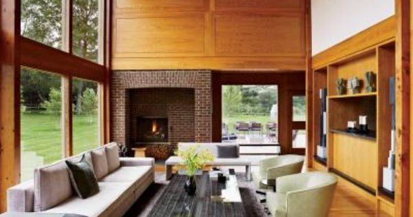 The Living Room Inside The Louis Kahn Designed Korman House Home
