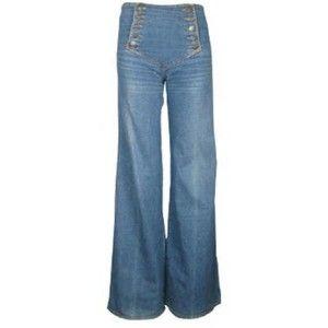 SUPER High-Waisted Jeans Vintage 1970/'s Denim Size 38R 100/% Cotton Flared Leg 70s Women/'s Retro Pants