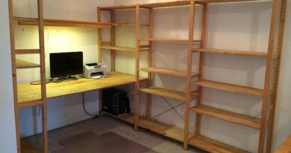 Ikea Ivar Desk Amp Bookshelves Ivar Pinterest Tables