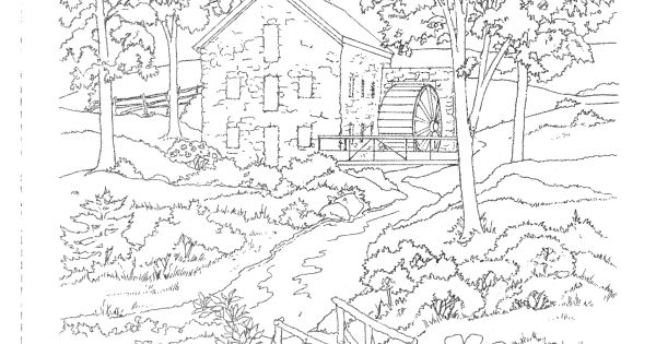 Country Scenes to Paint or Color