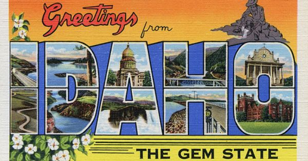 Greetings From Idaho The Gem State Large Letter Postcard