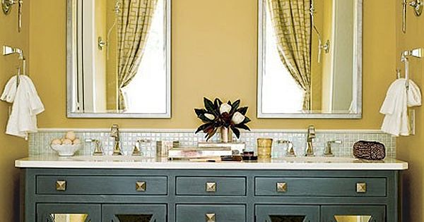 2009 | Seawatch | Sunset Harbor, NC | Master Bathroom. Mirrored vanities.