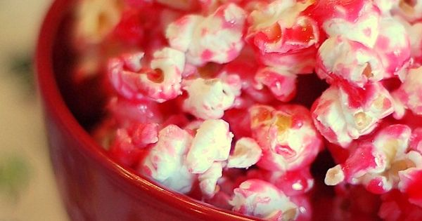 Strawberry Jello Popcorn...I'm thinking this would be good for Bryers valntines day