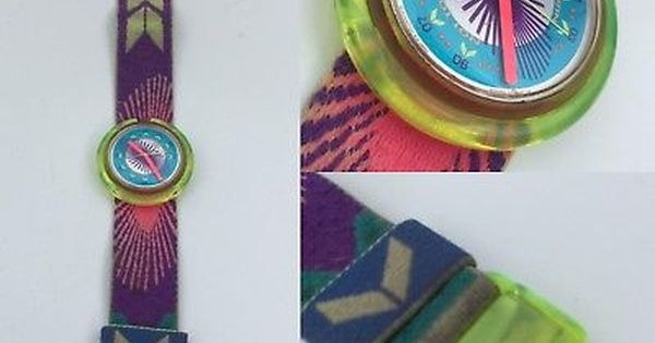 Vintage Pop Swatch Watch Rare Watch 80s 90 S 1992 Bermuda To Win Not To Lose