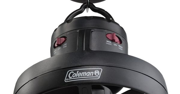 Coleman Tent Ceiling Fan with Light.... a fantastic camping fan... use it